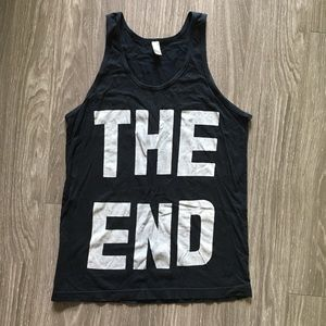 "American Apparel black ""THE END"" tank women's S"